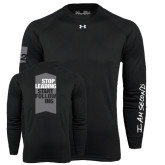 Under Armour Black Long Sleeve Tech Tee-Stop Leading Start Following