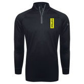 Under Armour Black Tech 1/4 Zip Performance Shirt-Run Vertical Mark