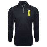 Under Armour Black Tech 1/4 Zip Performance Shirt-Run Vertical Mark