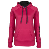 Ladies Pink Raspberry Tech Fleece Hoodie-