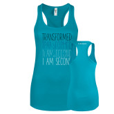 Next Level Ladies Tahiti Blue Ideal Racerback Tank-Transformed
