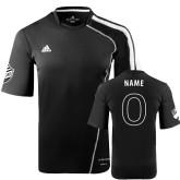 adidas Black/White Soccer Jersey-Personalized English Version