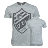 Next Level SoftStyle Heather Grey T Shirt-Soccer Second Crest