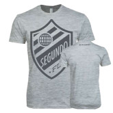 Next Level SoftStyle Heather Grey T Shirt-Soccer Segundo Crest, Portuguese