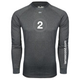 Under Armour Carbon Heather Long Sleeve Tech Tee-2 Inside Circle