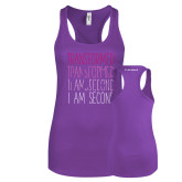 Next Level Ladies Purple Berry Ideal Racerback Tank-Transformed