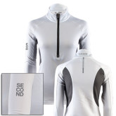 Ladies White Capture Half Zip-