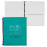 College Spiral Notebook w/Black Coil-Transformed