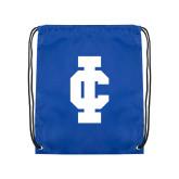 Royal Drawstring Backpack-IC Athletic Logo