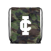 Camo Drawstring Backpack-IC Athletic Logo