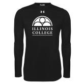 Under Armour Black Long Sleeve Tech Tee-Collegiate Logo Vertical