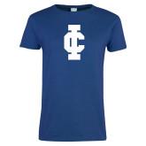 Ladies Royal T Shirt-IC Athletic Logo