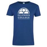 Ladies Royal T Shirt-Collegiate Logo Vertical