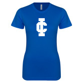 Next Level Ladies SoftStyle Junior Fitted Royal Tee-IC Athletic Logo
