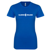 Next Level Ladies SoftStyle Junior Fitted Royal Tee-Long Athletic Logo