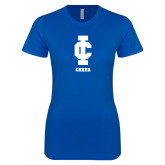 Next Level Ladies SoftStyle Junior Fitted Royal Tee-Cheer