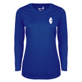 Ladies Syntrel Performance Royal Longsleeve Shirt-IC Athletic Logo