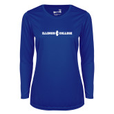 Ladies Syntrel Performance Royal Longsleeve Shirt-Long Athletic Logo