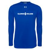Under Armour Royal Long Sleeve Tech Tee-Long Athletic Logo