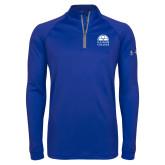 Under Armour Royal Tech 1/4 Zip Performance Shirt-Collegiate Logo Vertical