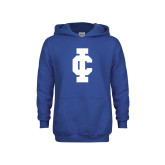 Youth Royal Fleece Hoodie-IC Athletic Logo