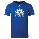 Adidas Royal Logo T Shirt-Collegiate Logo Vertical