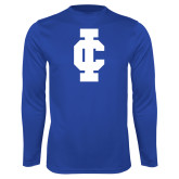 Performance Royal Longsleeve Shirt-IC Athletic Logo