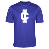 Performance Royal Heather Contender Tee-IC Athletic Logo