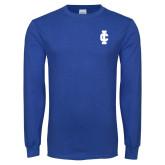 Royal Long Sleeve T Shirt-IC Athletic Logo