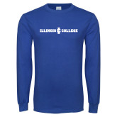 Royal Long Sleeve T Shirt-Long Athletic Logo