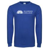 Royal Long Sleeve T Shirt-Collegiate Logo Horizontal