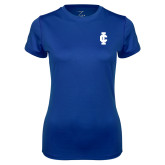 Ladies Syntrel Performance Royal Tee-IC Athletic Logo