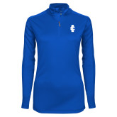 Ladies Syntrel Interlock Royal 1/4 Zip-IC Athletic Logo