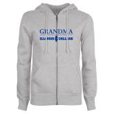 ENZA Ladies Grey Fleece Full Zip Hoodie-Grandma