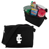 Six Pack Black Cooler-IC Athletic Logo
