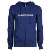ENZA Ladies Royal Fleece Full Zip Hoodie-Long Athletic Logo