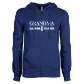 ENZA Ladies Royal Fleece Full Zip Hoodie-Grandma