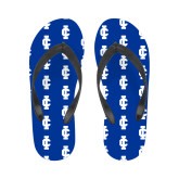 Ladies Full Color Flip Flops-IC Athletic Logo