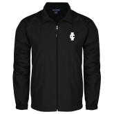 Full Zip Black Wind Jacket-IC Athletic Logo