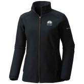 Columbia Ladies Sweet As Black Hooded Jacket-Collegiate Logo Vertical