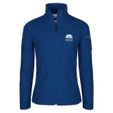 Columbia Ladies Full Zip Royal Fleece Jacket-Collegiate Logo Vertical