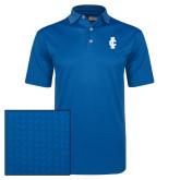 Callaway Magnetic Blue Jacquard Polo-IC Athletic Logo