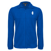 Fleece Full Zip Royal Jacket-IC Athletic Logo