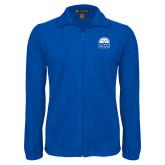Fleece Full Zip Royal Jacket-Collegiate Logo Vertical