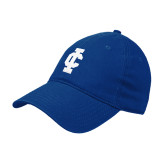 Royal Twill Unstructured Low Profile Hat-IC Athletic Logo
