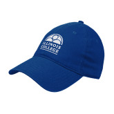 Royal Twill Unstructured Low Profile Hat-Collegiate Logo Vertical