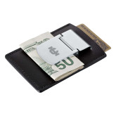 Zippo Leather Money Clip Card Case-IC Athletic Logo Engraved