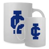 Full Color White Mug 15oz-IC Athletic Logo