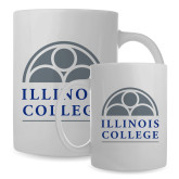 Full Color White Mug 15oz-Collegiate Logo Vertical