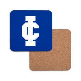 Hardboard Coaster w/Cork Backing-IC Athletic Logo